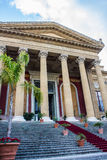Teatro Massimo in Palermo, Italy Royalty Free Stock Photo