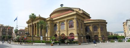 Teatro Massimo in Palermo, Italy Royalty Free Stock Images