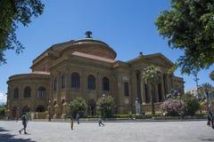 Teatro Massimo, Palermo, Sicília, Itália foto de stock