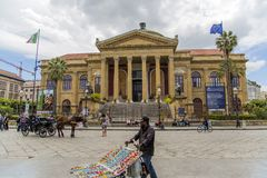 Teatro Massimo in Palermo royalty free stock images