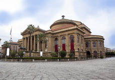 Teatro Massimo. Theater in palermo, sicily italy Stock Photos