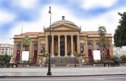 Teatro Massimo. Theater in palermo, sicily italy Royalty Free Stock Photography