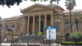Teatro Massimo Vittorio Emanuele Opera House royalty free stock image