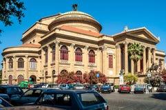 Teatro Massimo Vittorio Emanuele Stock Image