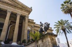 Teatro Massimo Vittorio Emanuele, Palermo, Sicily. Stock Images
