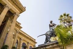 Teatro Massimo Vittorio Emanuele, Palermo, Sicily. Stock Photography