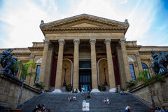 Teatro Massimo Vittorio Emanuele Royalty Free Stock Photography