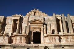 Teatro meridional, Jerash Fotos de archivo libres de regalías