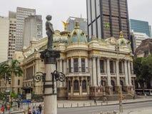 Teatro municipal en Río fotos de archivo libres de regalías
