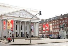 Teatro na cidade Aix-la-Chapelle, Alemanha Imagens de Stock