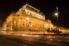 Teatro nacional checo foto de stock