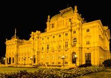 Teatro nacional croata imagen de archivo