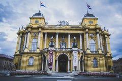 Teatro nacional croata Foto de archivo