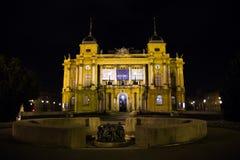 Teatro nacional croata imagen de archivo libre de regalías
