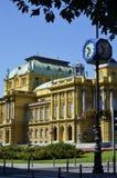 Teatro nacional croata em Zagreb, Croácia Imagens de Stock Royalty Free