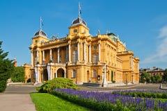 Teatro nacional croata em Zagreb, Croatia Fotografia de Stock