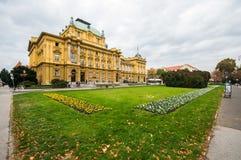 Teatro nacional croata en Zagreb foto de archivo libre de regalías