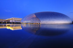 Teatro nacional de China, Beijing, cenas da noite Fotografia de Stock Royalty Free