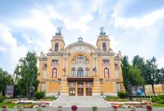 Teatro nacional de Cluj Napoca a Transilvânia fotografia de stock royalty free