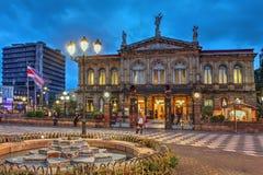 Teatro nacional de Costa Rica en San Jose Fotografía de archivo libre de regalías