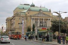 Teatro nacional de Rijeka Imagen de archivo libre de regalías