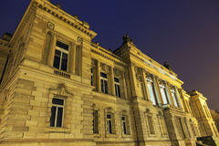 Teatro nacional de Strasbourg em Lugar de la République Foto de Stock Royalty Free