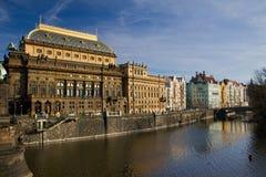 Teatro nacional en Praga Fotos de archivo libres de regalías