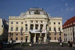 Teatro nacional eslovaco Fotos de archivo libres de regalías
