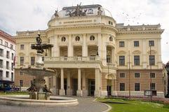 Teatro nacional eslovaco Fotos de Stock Royalty Free