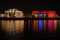 Teatro nacional húngaro foto de archivo libre de regalías