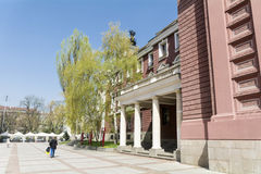 Teatro nacional Ivan Vazov, Sófia, Bulgária Fotos de Stock
