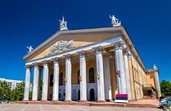 Teatro nacional kirguizio de la ópera y de ballet nombrado después de Abdylas Maldybaev - Bishkek imagen de archivo libre de regalías