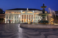 Teatro nacional, Lisboa, Portugal Imagens de Stock