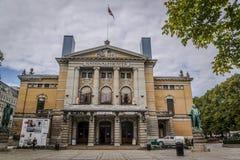 Teatro nacional, Oslo, Noruega fotos de archivo