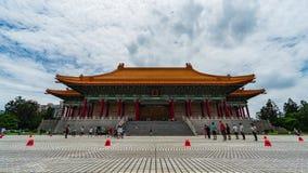 Teatro nacional Pasillo de Chiang Kai-Shek Memorial Hall en Taipei, Taiwán almacen de metraje de vídeo