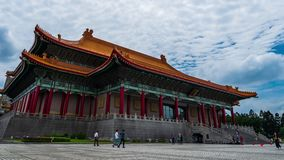 Teatro nacional Pasillo de Chiang Kai-Shek Memorial Hall en Taipei, Taiwán metrajes