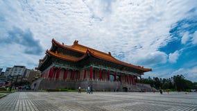 Teatro nacional Pasillo de Chiang Kai-Shek Memorial Hall en Taipei, Taiwán almacen de video