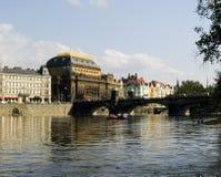 Teatro nacional Praga Imagem de Stock