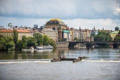Teatro nacional, Praga Foto de Stock Royalty Free