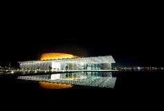 Teatro nacional projetado moderno de Barém com 1001 assentos Fotografia de Stock