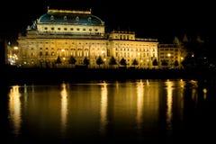 Teatro nazionale ceco Fotografia Stock Libera da Diritti