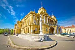 Teatro nazionale croato di Zagabria Fotografia Stock
