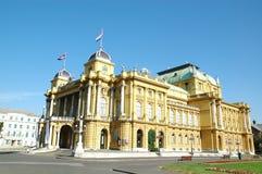 Teatro nazionale croato a Zagabria Fotografia Stock
