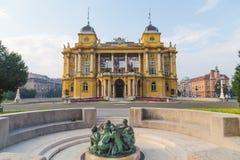 Teatro nazionale croato a Zagabria Fotografie Stock