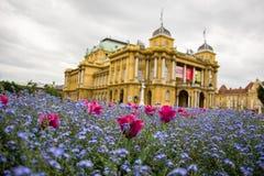 Teatro nazionale croato, Zagabria Fotografie Stock