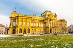 Teatro nazionale croato - Zagabria, Croatia fotografie stock libere da diritti