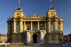 Teatro nazionale croato a Zagabria, Croazia Fotografia Stock