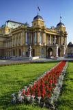 Teatro nazionale croato a Zagabria, Croazia Immagini Stock