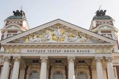 Teatro nazionale Ivan Vazov Fotografie Stock Libere da Diritti