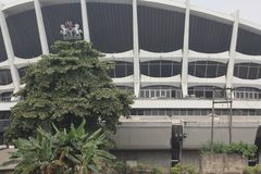 Teatro nazionale Lagos Nigeria Fotografia Stock